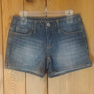 EUC Dark Wash Distressed Denim Jean Shorts 4